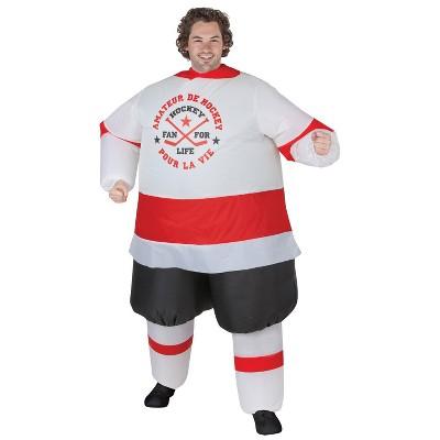 Adult Hockey Player Inflatable Halloween Costume