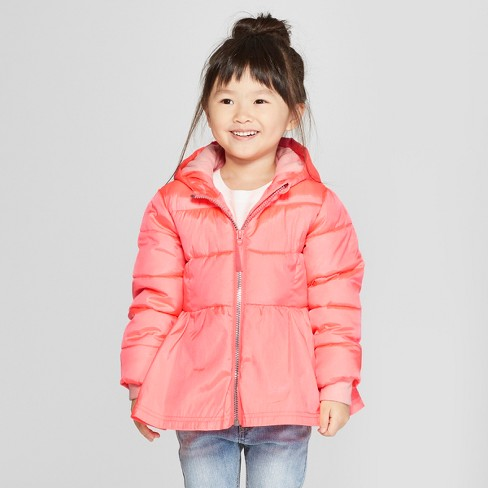 67a1c2dcb7eb Toddler Girls  Puffer Jacket - Cat   Jack™ Pink   Target
