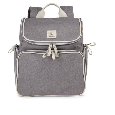 Bananafish Breast Pump Backpack - Gray/Bone