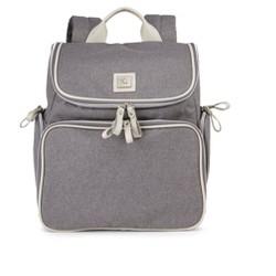 Bananafish Breast Pump Backpack - Gray/Bone
