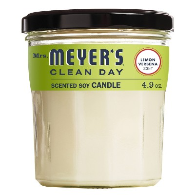 Mrs. Meyer's Lemon Verbena Soy Glass Candle - 4.9oz