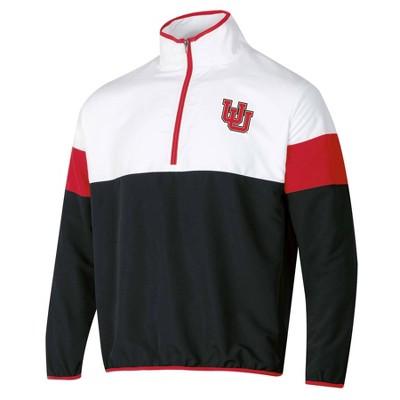 NCAA Utah Utes Men's 1/4 Zip Windbreaker Jacket