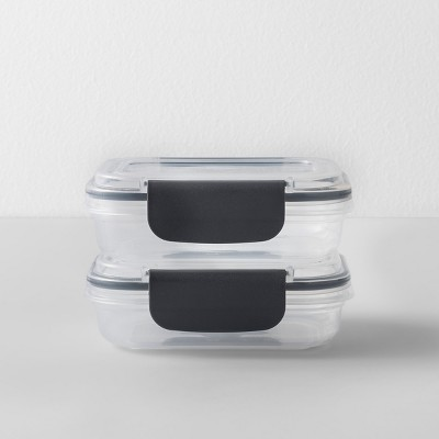 Rectangular Plastic Food Storage Container 1 cup 2pk - Made By Design™