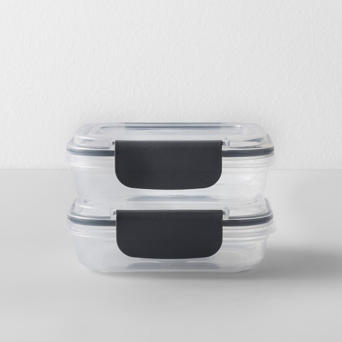 Rectangular Plastic Food Storage Container 4pc 2pk - Made By Design™ - image 1 of 4