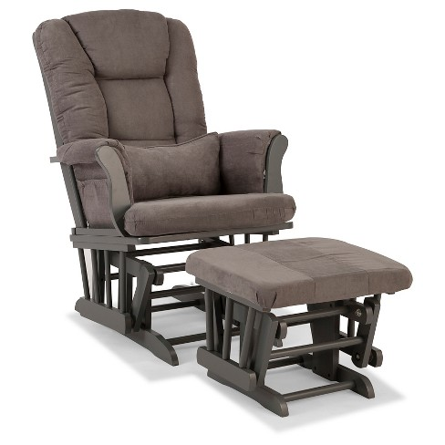 Stork Craft Tuscany Gray Glider and Ottoman - Gray - image 1 of 1