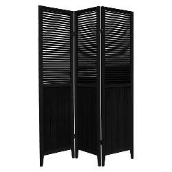 6 ft. Tall Beadboard Divider 3 Panels - Oriental Furniture