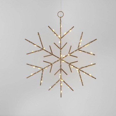 Christmas LED Gold Snowflake Novelty Sculpture with Warm White Twinkle Lights - Wondershop™