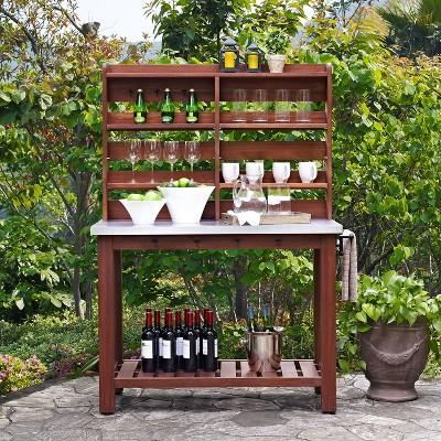 Delicieux Mesa Zinc Top Indoor / Outdoor Island Buffet And Hutch Eucalyptus   Crosley®