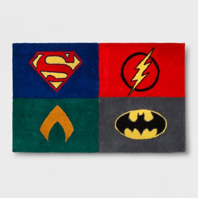 DC Comics Justice League Strength For All 2'5 x4' Elevated Rug