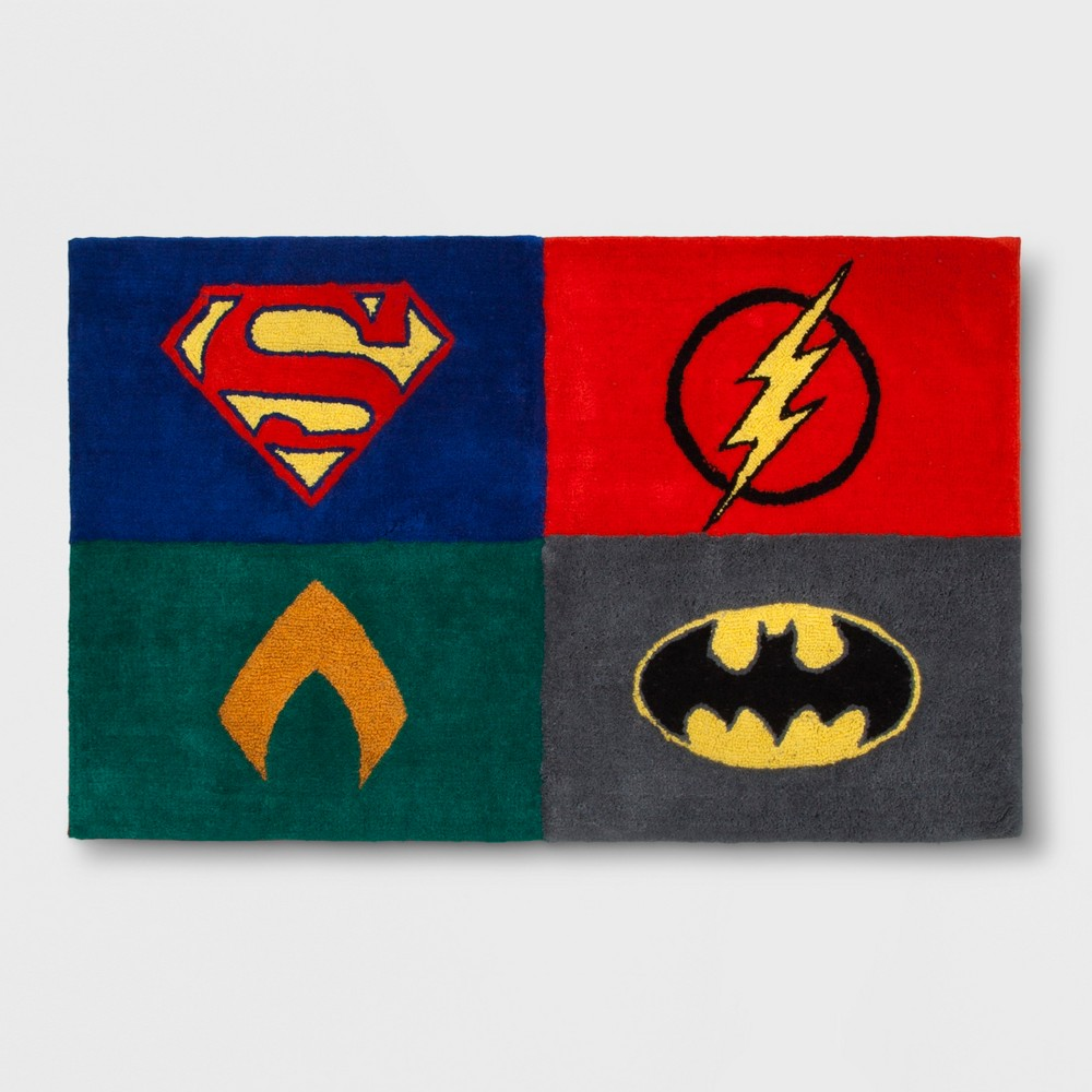 """Image of """"DC Comics Justice League Strength For All 2'5""""""""x4' Elevated Rug"""""""