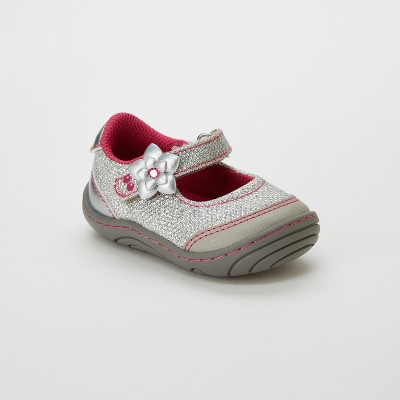 Baby Girls' Surprize by Stride Rite Pauline Mary Jane Shoes - Silver 4