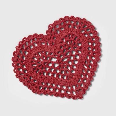 """8/"""" star Pompom Trivet Red Opalhouse"""
