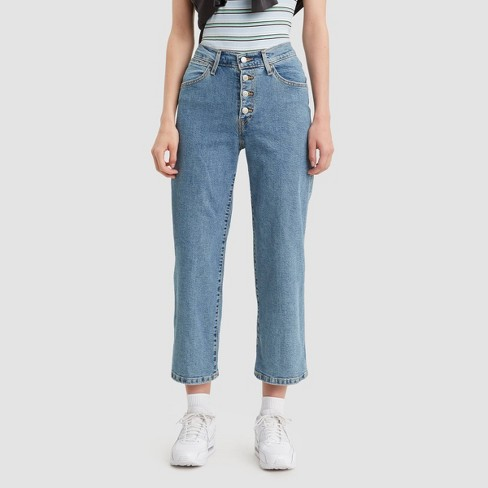 Levi's® Women's Mile High Wide Leg Cropped Jeans - Stonewash 28 - image 1 of 3
