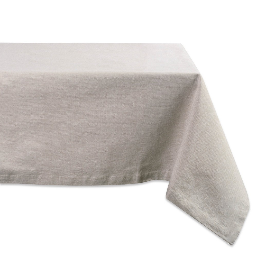 "Image of ""104""""x60"""" French Chambray Tablecloth Natural - Design Imports"""
