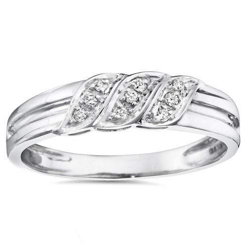 Pompeii3 Mens Diamond Ring 10K White Gold - image 1 of 4