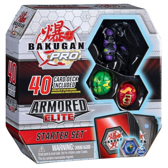 Bakugan Pro Armored Elite Starter Set with Trox Ultra 2 Bakugan and Collectible Trading Cards image number null