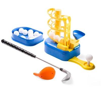 HearthSong - Golf Play Set for Kids with Lightweight Golf Balls