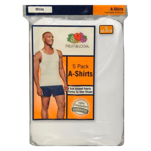 Fruit of the Loom® Men's A-Shirts 5pk - White - image 1 of 1