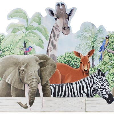 Jungle Animals Prepasted Wall Paper Wide Border Accent - Blue Mountain..