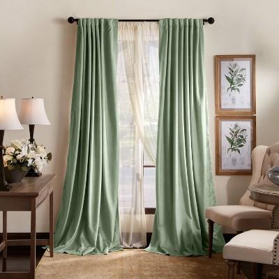 Set of 2 Lucca Velvet Blackout Curtain Panels - Martha Stewart