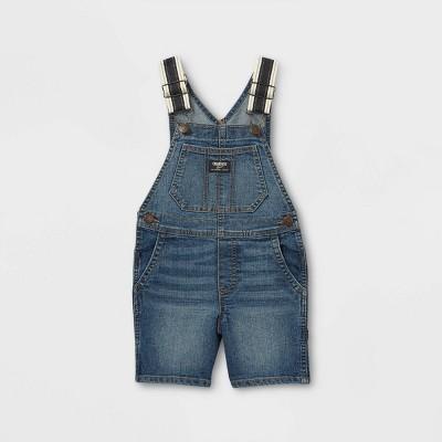 OshKosh B'gosh Toddler Boys' Denim Shortalls - Denim Blue