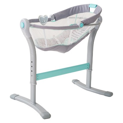 SwaddleMe® By Your Bed™ Bedside Sleeper by Summer Infant® - Gray/Blue