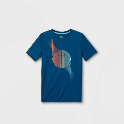 Boys' Short Sleeve Basketball Graphic T-Shirt - All in Motion™ Teal