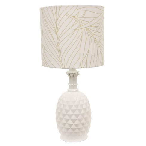 Pineapple Table Lamp White  - Decor Therapy - image 1 of 4