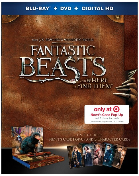 Fantastic Beasts and Where to Find Them - Target Exclusive (Blu-ray + DVD + Digital) - image 1 of 3