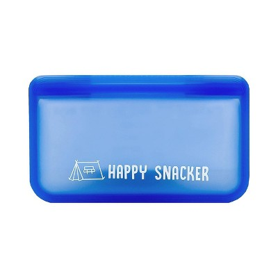 Austin Baby Collection Reusable Silicone Snack Bag - Small Periwinkle Blue