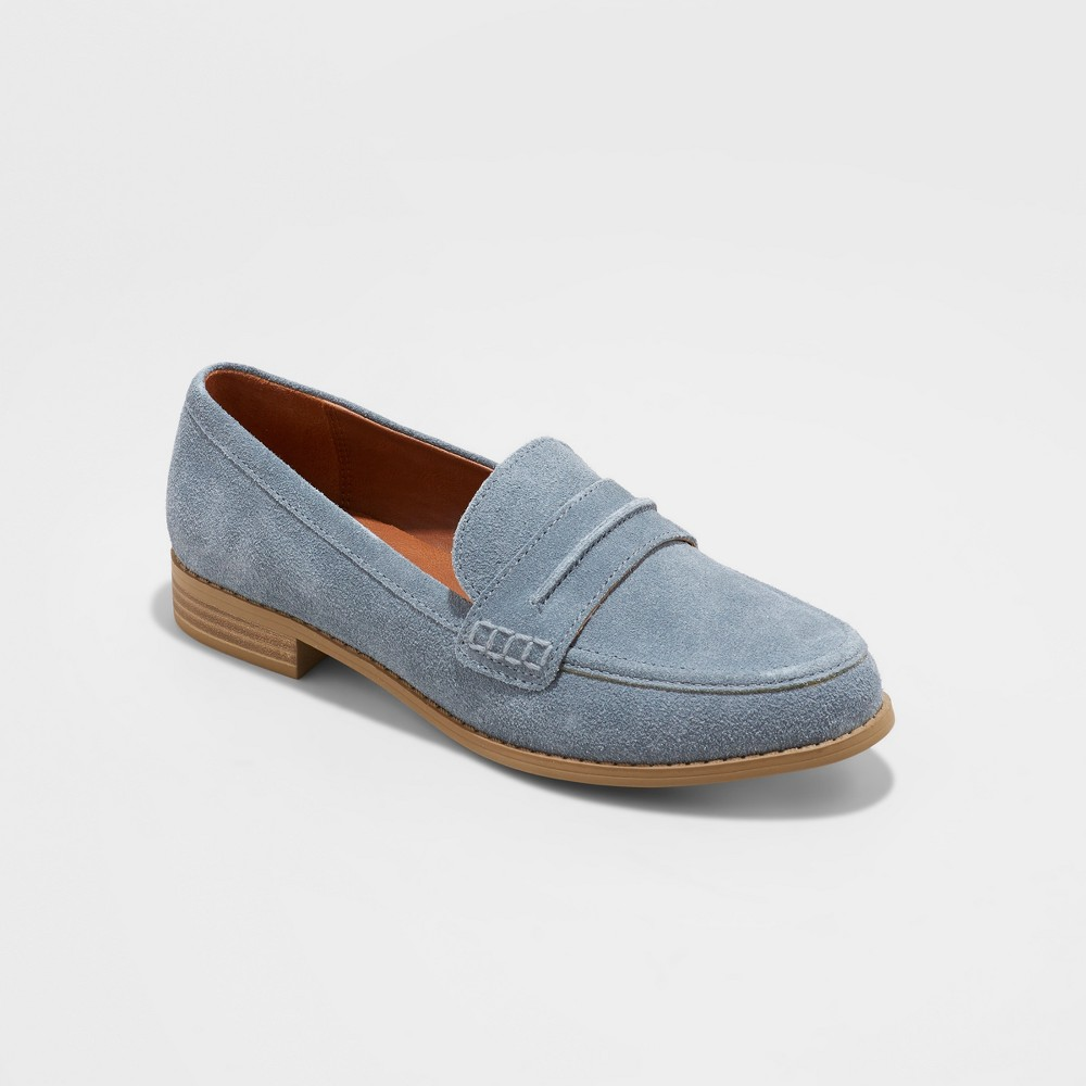 Women's Anamae Suede Closed Back Loafers - Universal Thread Blue 6.5