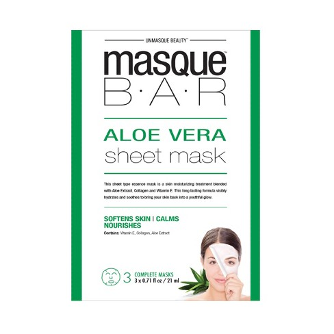 Masque Bar™ by Look Beauty™ Face Sheet Mask - Aloe - 3ct - image 1 of 1
