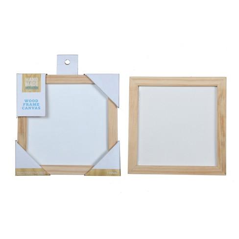 Hand Made Modern Wood Frame Canvas 6 X 6 Target