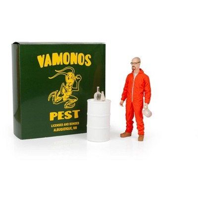 Mezco Toyz Breaking Bad Walter White In Orange Hazmat Suit Figure | Measures 6 Inches Tall