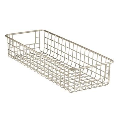 mDesign Metal Wire Food Storage Organizer Bin, 4 Pack