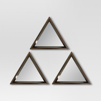 Triangle Mirror Walnut 3pk - Project 62™