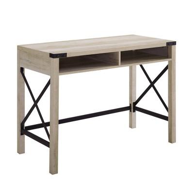 Sophie Urban Industrial X Frame Modern Farmhouse Writing Desk - Saracina Home