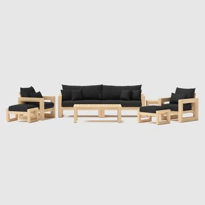 Benson 8pc Seating Set - Black - RST Brands