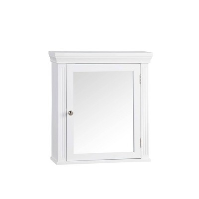 Chestnut Medicine Wall Cabinet White - Elegant Home Fashions