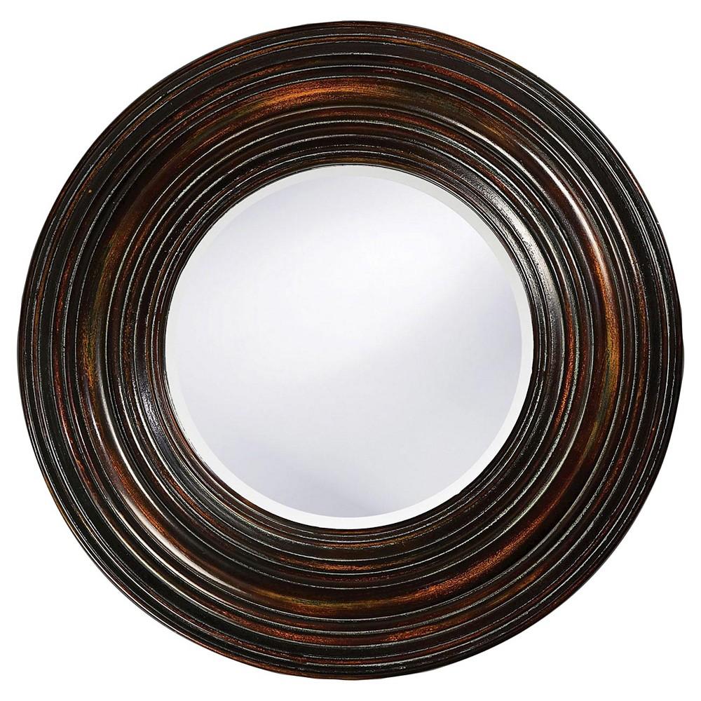 Round Canton Decorative Wall Mirror Brown - Howard Elliott