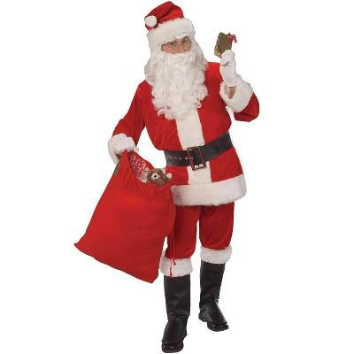 Rubies Mens Adult Santa Costume Velour