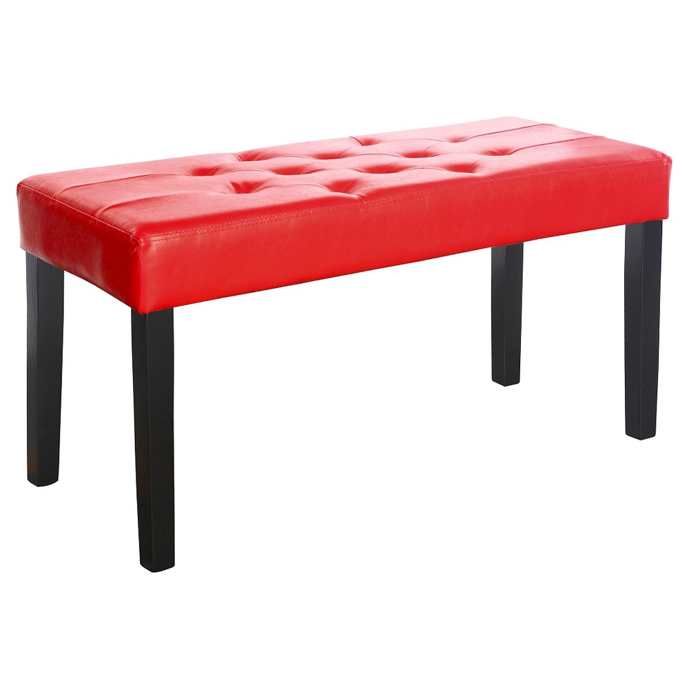 Reviews Corliving Fresno 12 Panel Bench In Red Leatherette