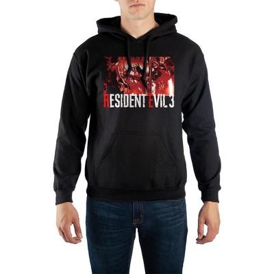 Resident Evil Video Game Mens Black Graphic Hooded Sweatshirt