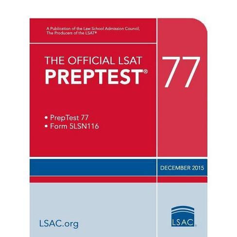 The Official LSAT Preptest 77 - (Official LSAT PrepTest)(Paperback) - image 1 of 1