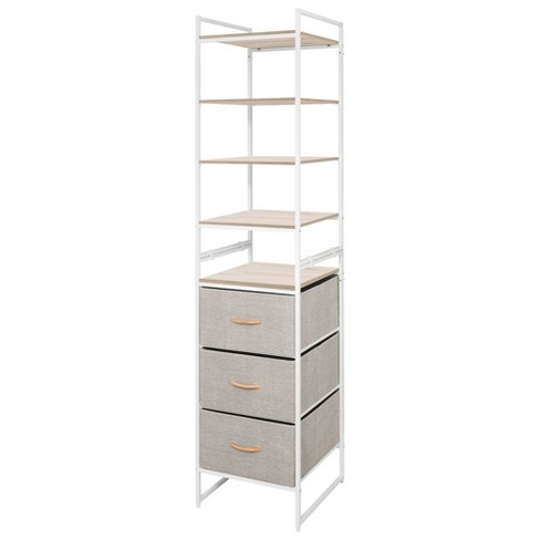 mDesign Vertical Closet Furniture Storage Unit, 3 Drawers, 5 Shelves - image 1 of 4