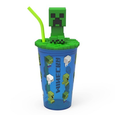 Minecraft 15oz Plastic Funtastic Tumbler with Straw - Zak Designs