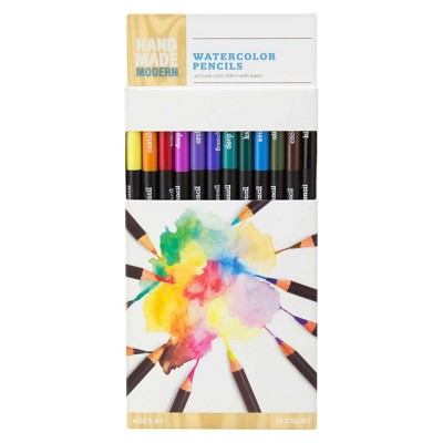 Hand Made Modern - Watercolor Pencils, 12ct