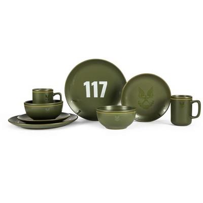 Robe Factory LLC HALO Master Chief 117 Stoneware 8-Piece Dinnerware Set | Plates, Bowls, Mugs