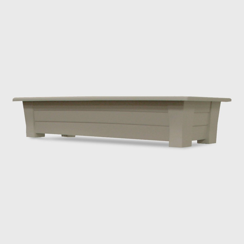 Image of 36'' Rectangular Deck Planter Beige - Adams Manufacturing