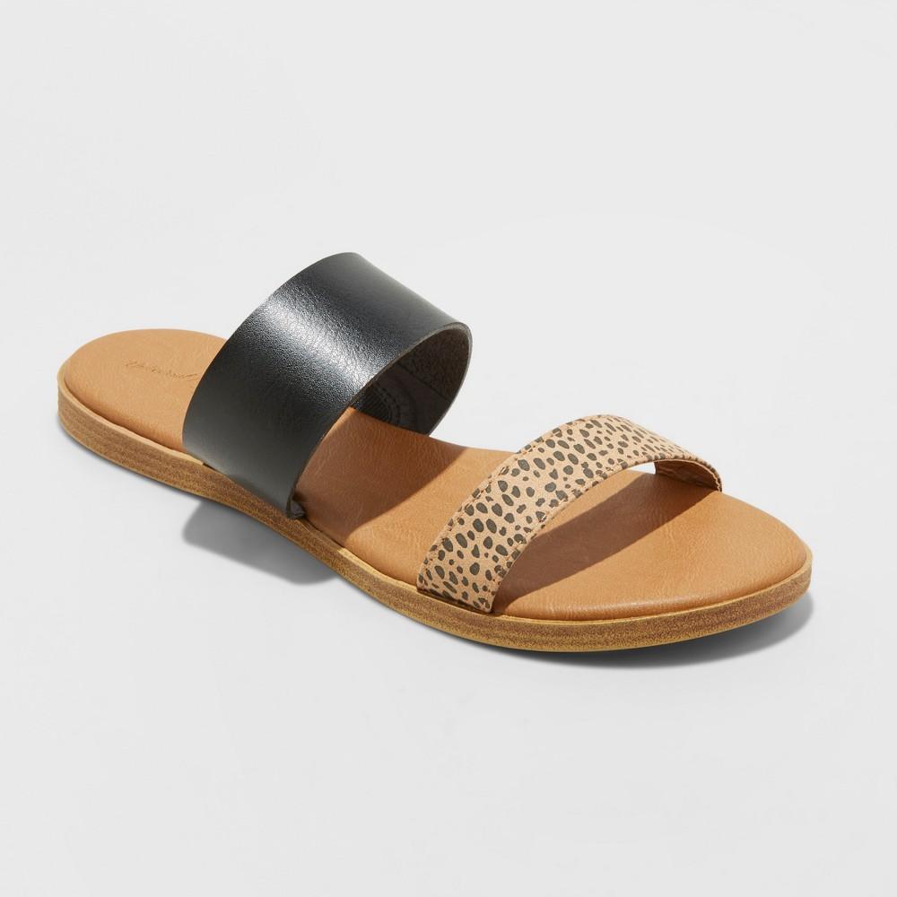 Women 39 S Torri Two Band Slide Sandals Universal Thread 8482 Black 13